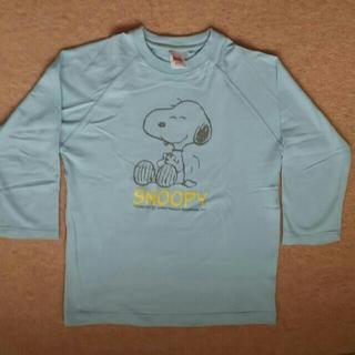 スヌーピー(SNOOPY)のスヌーピーTシャツ  7分丈 水色(Tシャツ(長袖/七分))