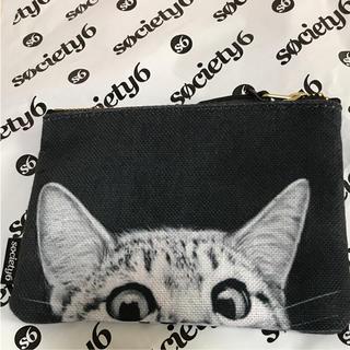 ソサエティシックス(Society6)の値下げ!society6 猫ポーチ 日本未発売(ポーチ)