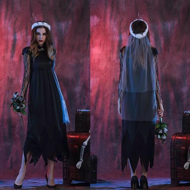 ゾンビ ハロウィン 衣装 ゾンビの花嫁 大人用コスチューム エンタメ/ホビーのコスプレ(衣装一式)の商品写真