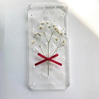 mii様専用 ハンドメイド iphoneケース  かすみ草(スマホケース)
