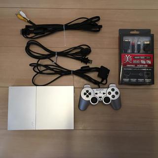 プレイステーション2(PlayStation2)のPS2 SCPH-90000 シルバー D端子ケーブル付 (家庭用ゲーム本体)