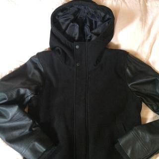 ディテールズ(DETAILS)の(特価)Details メルトンフードジャケット 黒 L(ブルゾン)