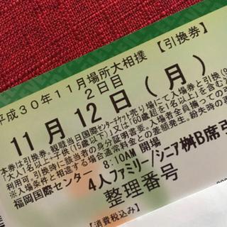 大相撲九州場所 シニアマスB席(相撲/武道)
