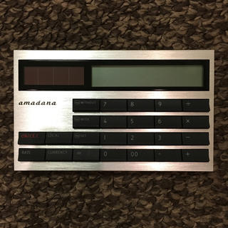 アマダナ(amadana)のamadana アマダナ カード型電子計算機 LC-404-SV シルバー(その他)