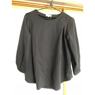 アカチャンホンポ(アカチャンホンポ)の授乳服 カットソー M 黒トップス ワールド アカチャンホンポ(マタニティトップス)