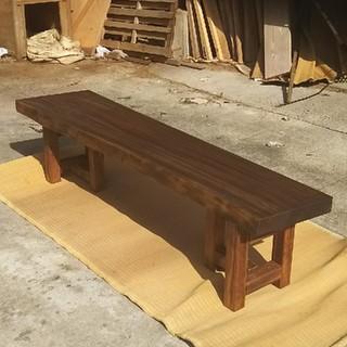 楠 クスノキ テーブル 一枚板 ローテーブル ベンチ 座卓(ローテーブル)