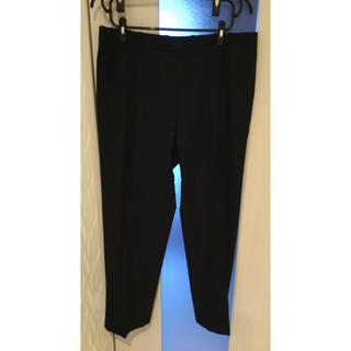 パンツ  黒スラックス 夏用 サイズ 3L 中古(スラックス)