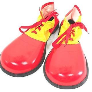 ピエロ 靴 シューズ コスチューム用小物 レッドxイエローハロウィンパーティー(靴/ブーツ)