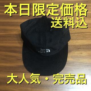 ワンエルディーケーセレクト(1LDK SELECT)の最安値 完売品 700fill ノースロゴ コーデュロイ キャップ 黒(キャップ)