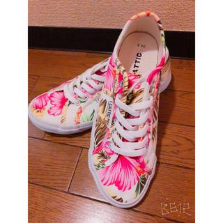 しまむら - 花柄 スニーカー