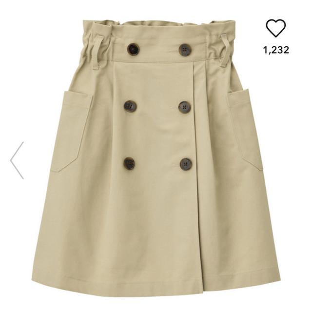 GU(ジーユー)の【AI様】GU フロントボタンチノスカート 150 GIRLR キッズ/ベビー/マタニティのキッズ服 女の子用(90cm~)(スカート)の商品写真