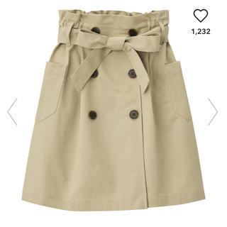 ジーユー(GU)の【AI様】GU フロントボタンチノスカート 150 GIRLR(スカート)