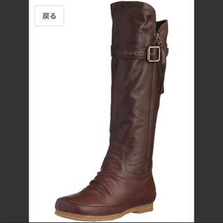 イング(ing)の美品 ing イング カッコ可愛いロングブーツ  サイズ22.5 ブラウン(ブーツ)