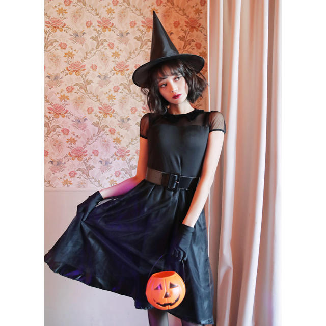 ハロウィン 魔女 エンタメ/ホビーのコスプレ(衣装一式)の商品写真