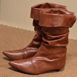 新品 2way ブーツ XL 25.5 26 ブラウン SAYA DIANA(ブーツ)