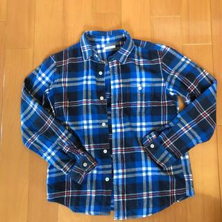 ジーユー(GU)のチェックシャツ 150cm(Tシャツ/カットソー)