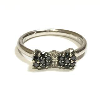 【送料無料】ブラックダイヤモンド リボン パヴェ リング(リング(指輪))