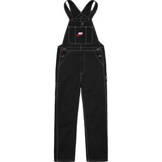 シュプリーム(Supreme)のM Supreme Nike Cotton Twill Overalls 黒(サロペット/オーバーオール)