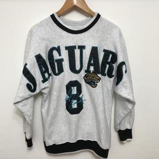 サントニブンノイチ(サントニブンノイチ)の激レア 90s USA製 NFL JAGUARS 8 vintage トレーナー(トレーナー/スウェット)