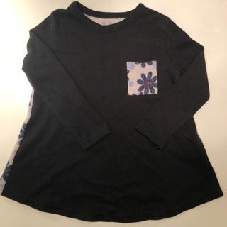 アニカ(annika)の韓国子供服TORIDORY 黒長袖 AラインTシャツ ロンT(Tシャツ/カットソー)