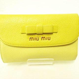 ミュウミュウ(miumiu)のmiumiu♡マドラスリボン3つ折り財布(財布)