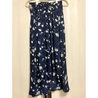 バイバイ(ByeBye)の花柄フレアロングスカート(ロングスカート)
