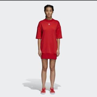 アディダス(adidas)のadidas トレフォイル ドレス Tシャツワンピース アディカラー(ミニワンピース)