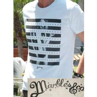 マーブルズ ガール Tシャツ marbles Sサイズ サックス(Tシャツ/カットソー(半袖/袖なし))