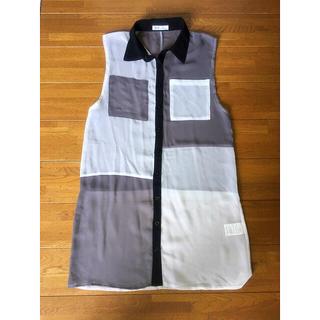サードバイヴァンキッシュ(3rd by VANQUISH)のシースルーシャツ(シャツ/ブラウス(半袖/袖なし))