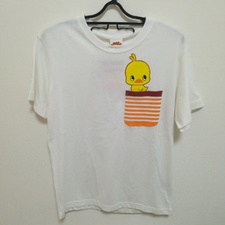 シマムラ(しまむら)の【未使用】チキンラーメン ひよこちゃん Tシャツ(size M)(Tシャツ/カットソー(半袖/袖なし))