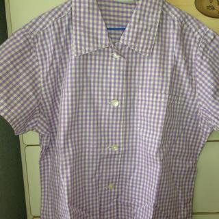 ギャップ(GAP)のGAP ギンガムチェックシャツラベンダー(シャツ/ブラウス(半袖/袖なし))