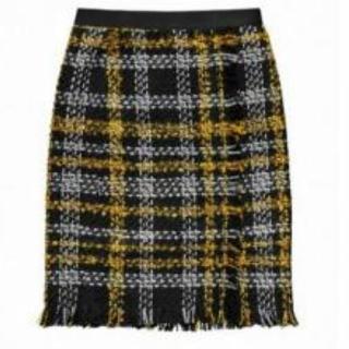 アーデム(Erdem)のH&M ERDEM コラボ ツイード スカート 希少 32(ひざ丈スカート)