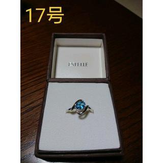 【みけうさぎ様専用】ブルートパーズリング(17号)(リング(指輪))