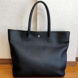 Hermes - 希少!! 【超美品】 hinn レザートートバッグ 黒 シュリンクレザー 日本製