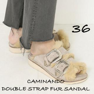 アパルトモンドゥーズィエムクラス(L'Appartement DEUXIEME CLASSE)の新品 CAMINANDO DOUBLE STRAP FUR SANDAL 36(サンダル)