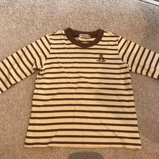 ミキハウス(mikihouse)の商談中  ボーダー Tシャツ ロンT 100(Tシャツ/カットソー)