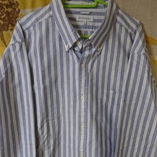 シマムラ(しまむら)のメンズ大きいサイズ長袖シャツ(シャツ)