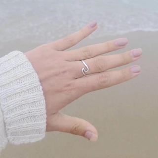 波デザインリング☆シルバーカラー!18号(リング(指輪))