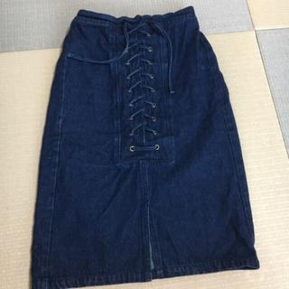 ミスティック(mystic)のミスティック レース編みタイトスカート(ひざ丈スカート)