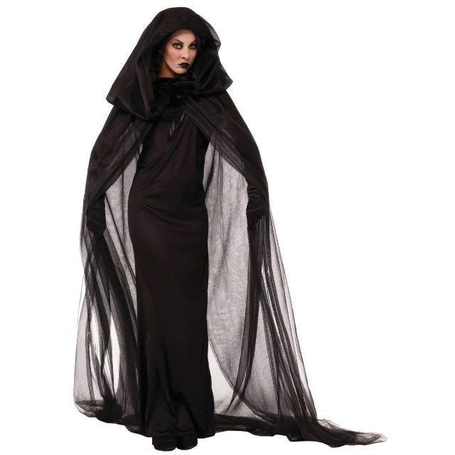 魔女 死神 マント コスチューム ブラック レディース フリーサイズ エンタメ/ホビーのコスプレ(衣装)の商品写真