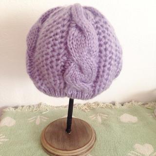 イーハイフンワールドギャラリー(E hyphen world gallery)のhyphen world gallery パステルパープルニットベレー帽(ハンチング/ベレー帽)