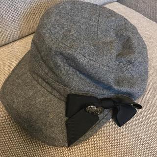 アースミュージックアンドエコロジー(earth music & ecology)のリボン付ハンチング(ハンチング/ベレー帽)