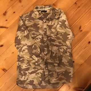 スリック(SLICK)のSLICK リネンメンズシャツ Mサイズ(シャツ)