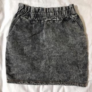 ウーム(WOmB)のケミカルスウェットタイトスカート(ひざ丈スカート)