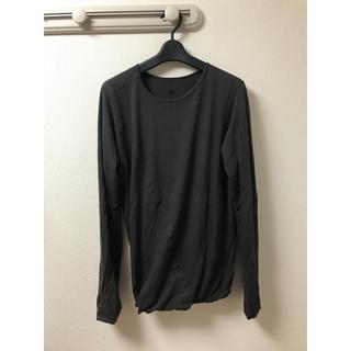 シヴァ(SIVA)のSIVA シヴァ ドレープカットソー サイズS ブラック(Tシャツ/カットソー(七分/長袖))