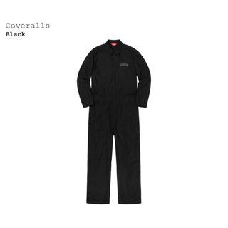 シュプリーム(Supreme)のSUPREME 2018aw Coveralls black XL(サロペット/オーバーオール)