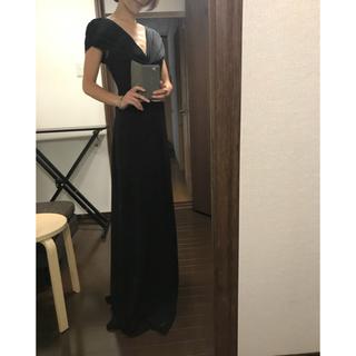 タダシショウジ(TADASHI SHOJI)の美品 タダシショージ ブラック ロングドレス XXS(ロングドレス)