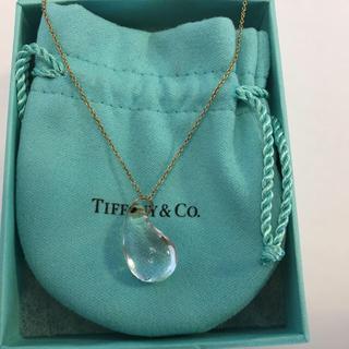 ティファニー(Tiffany & Co.)のティファニー ティアドロップ  クリスタル ネックレス ゴールド(ネックレス)