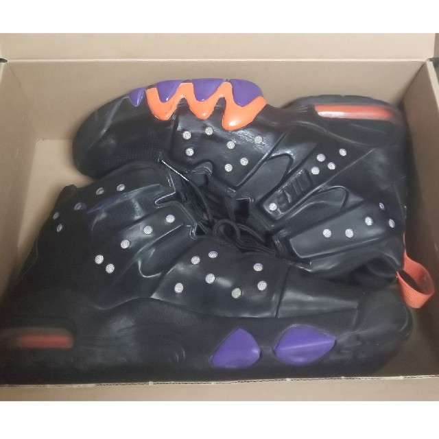 NIKE(ナイキ)の ナイキ エアマックス バークレーVT 488119-085ブラック/オレンジ メンズの靴/シューズ(スニーカー)の商品写真