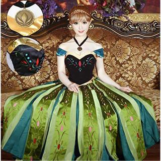 Sサイズ アナ雪 コスプレ コスチューム アナと雪の女王 ディズニー 仮装(衣装)